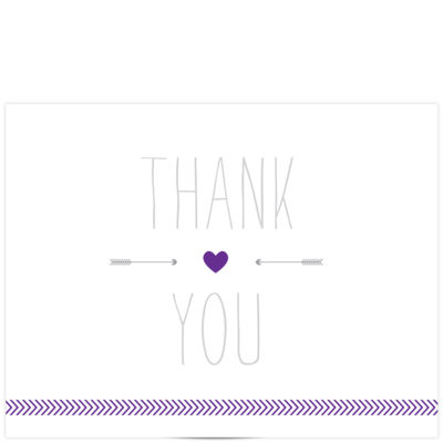 arrow love thank you card