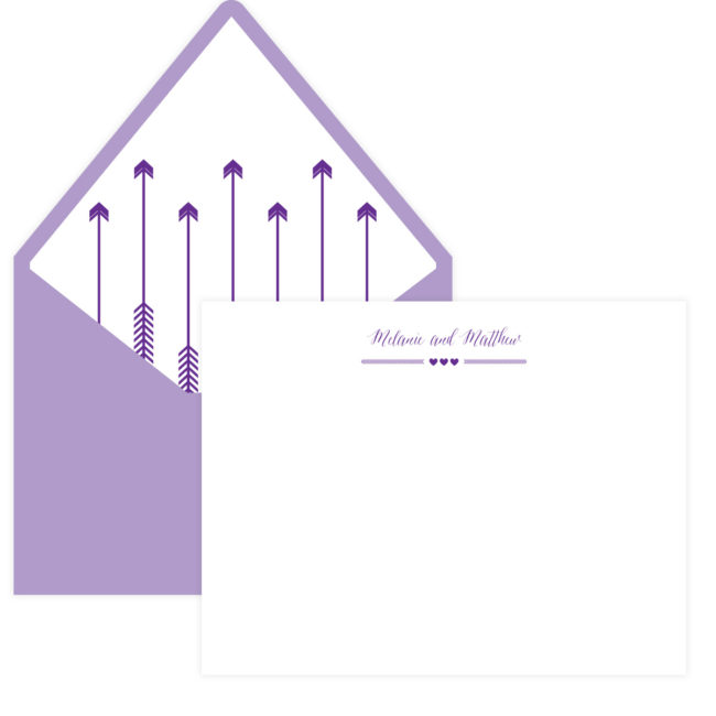 Purple Stationery