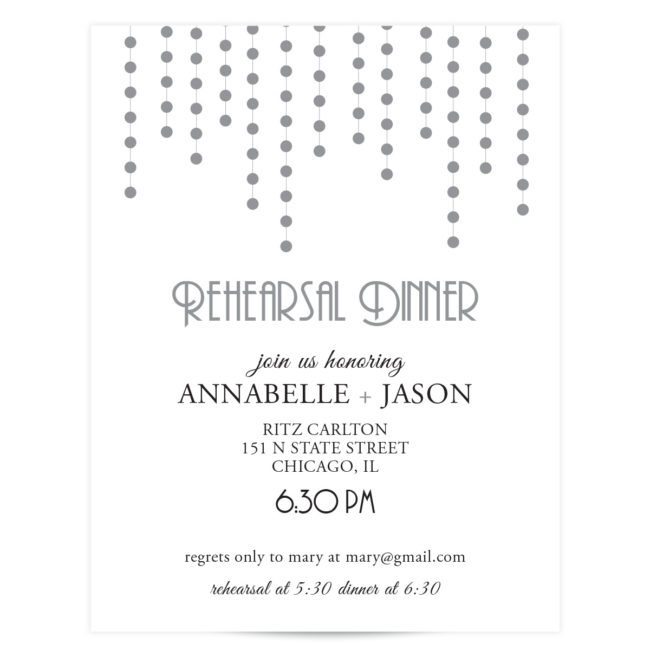 Silver Wedding Invitation Suite