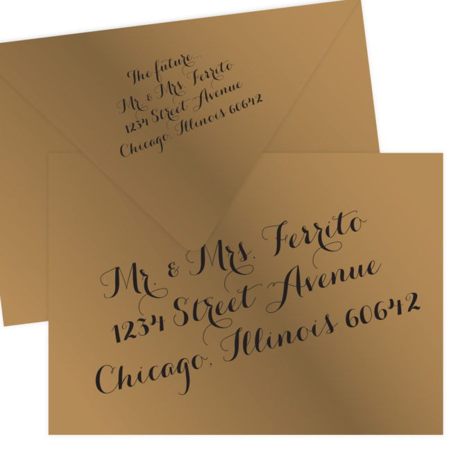 Gold Wedding Envelopes