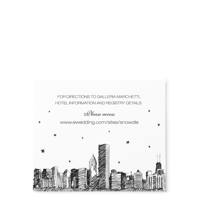 City Skyline Stars - Info Card