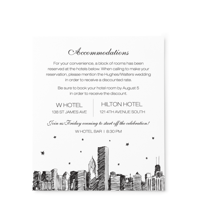 City Skyline Stars - Large Enclosure Card