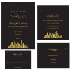 Gold Foil Wedding Invitations