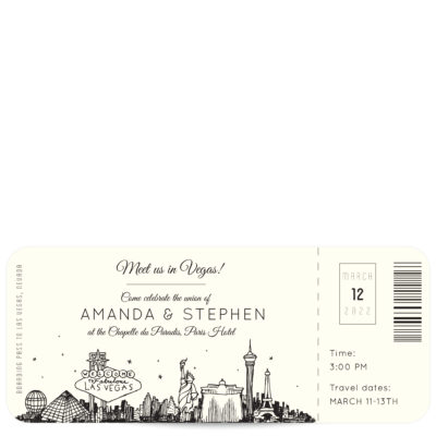 Plane Ticket Wedding Invitations