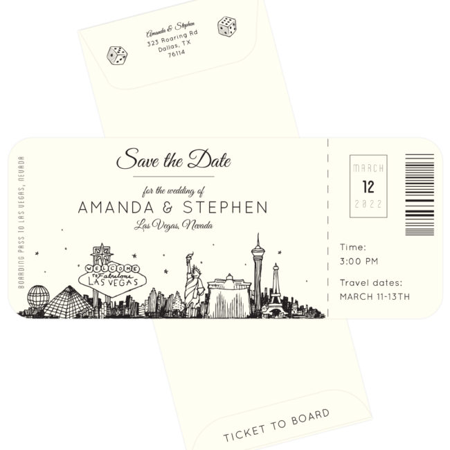 Plane Ticket Save the Date