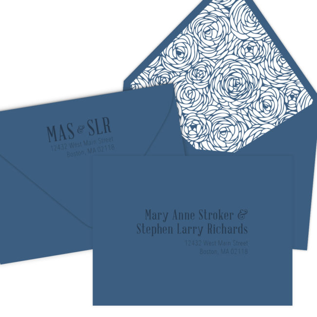 Navy Wedding Invitation Envelopes