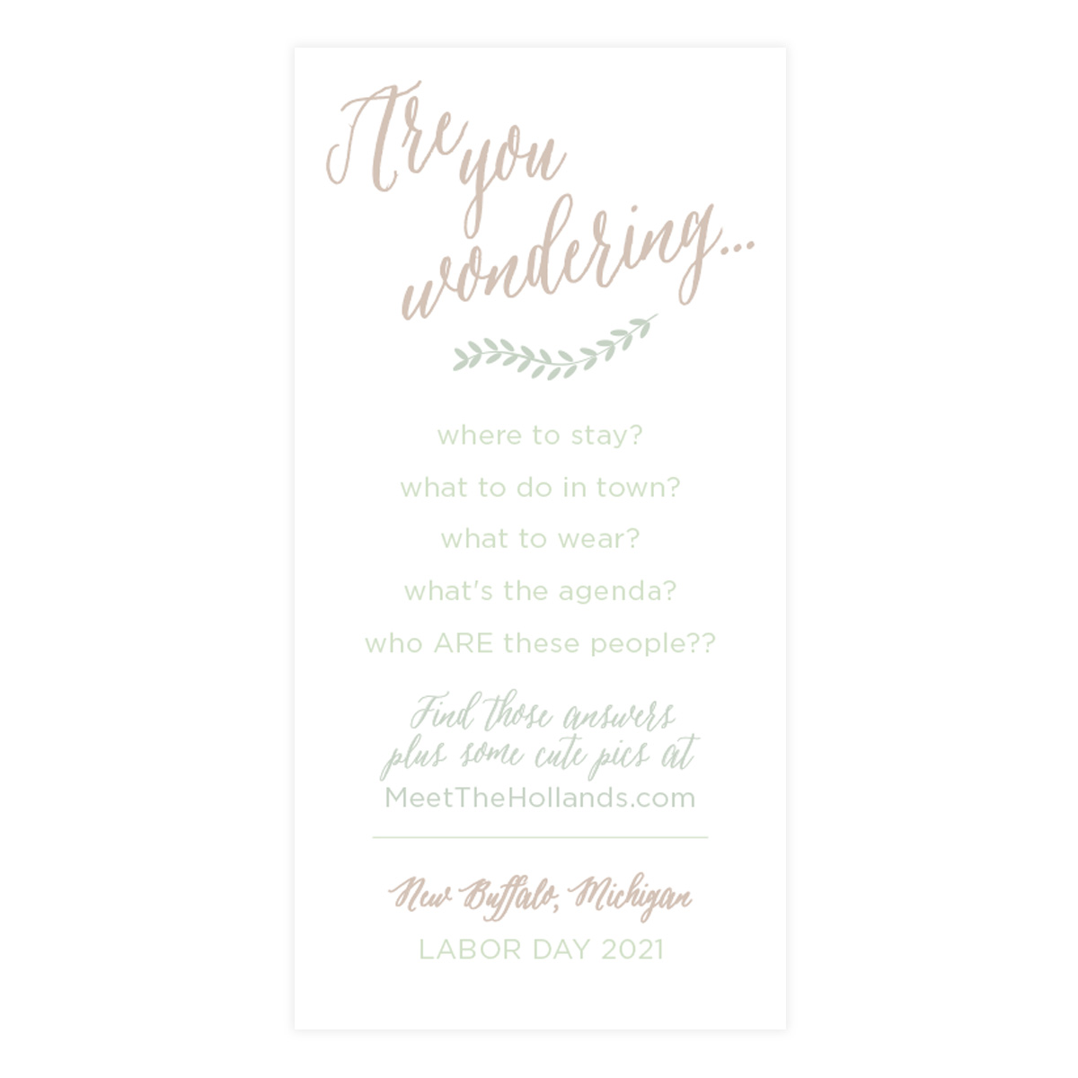 By the Water Beach or Lakeside Wedding Invitation - Pixie