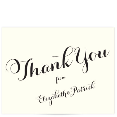Carolyna Font Thank You Cards
