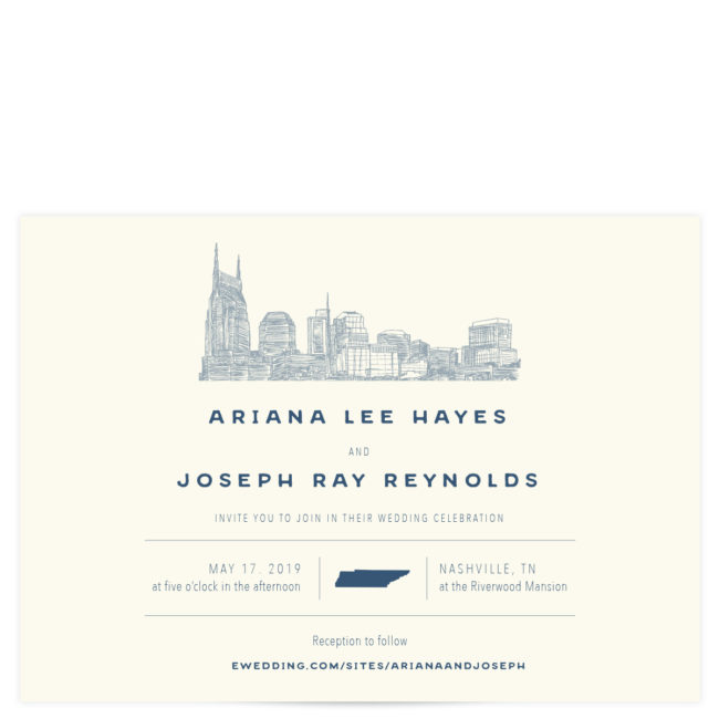 Nashville Skyline Wedding Invitation