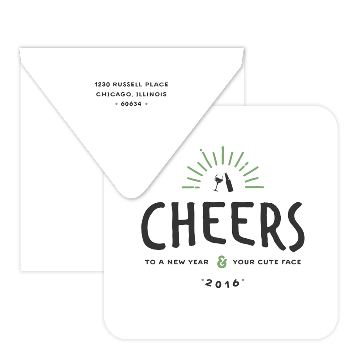 Cheers to a New Year Customizable Coasters - Pixie