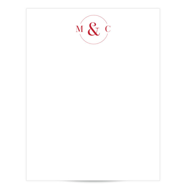 circle initial stationery