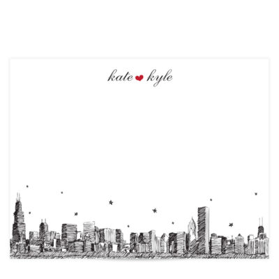 City Skyline Stationery