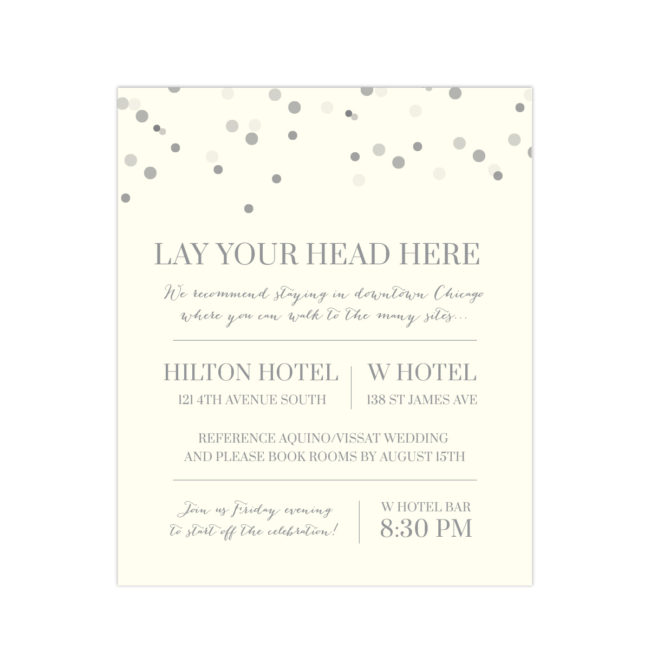 Charcoal and Ivory Wedding Invitation