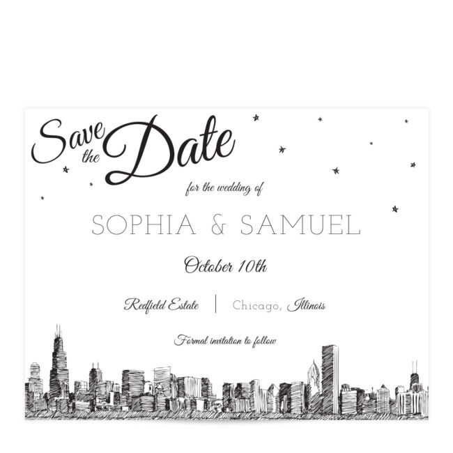 Chicago Skyline Save the Date