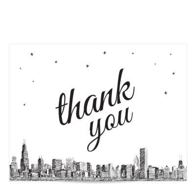 skyline thank you card