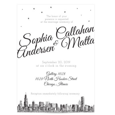 Skyline Wedding Invitation