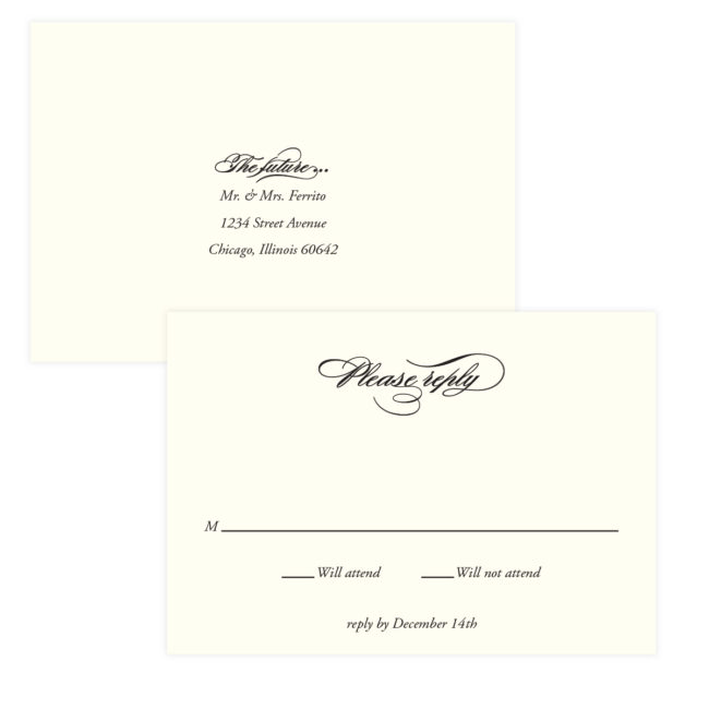 script elegant formal stationery