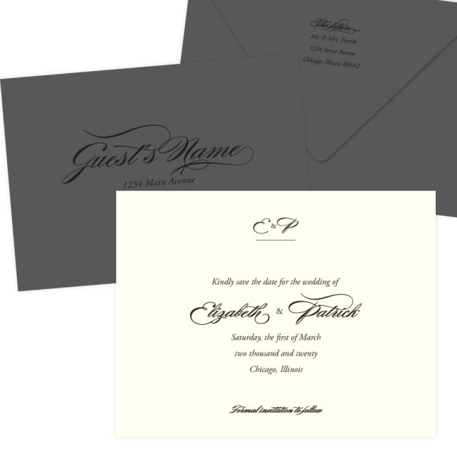 Gray Wedding Envelopes