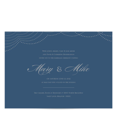 Silver and Navy Wedding Invitations