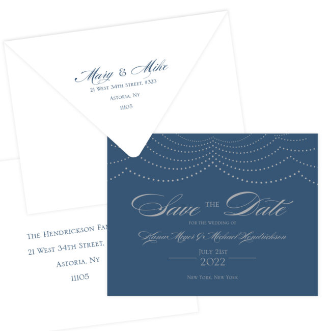 Silver and Navy Save the Dates