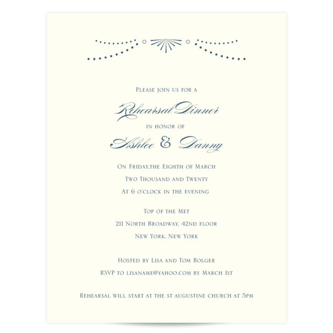 happily ever rehearsal invitations