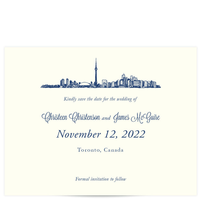 Toronto Skyline Save the Date