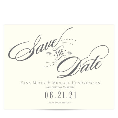 Charcoal Gray Save the Date