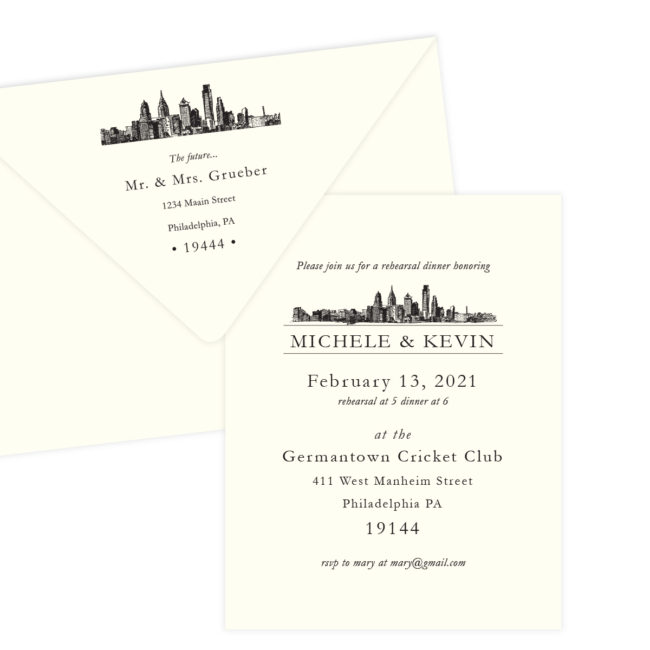 Skyline Rehearsal Dinner Invitation