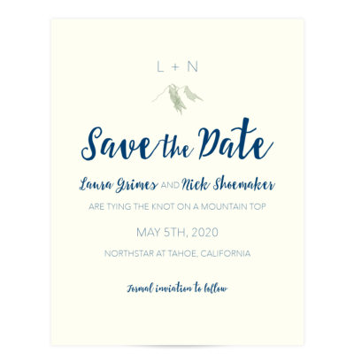 Mountain Top Save the Date