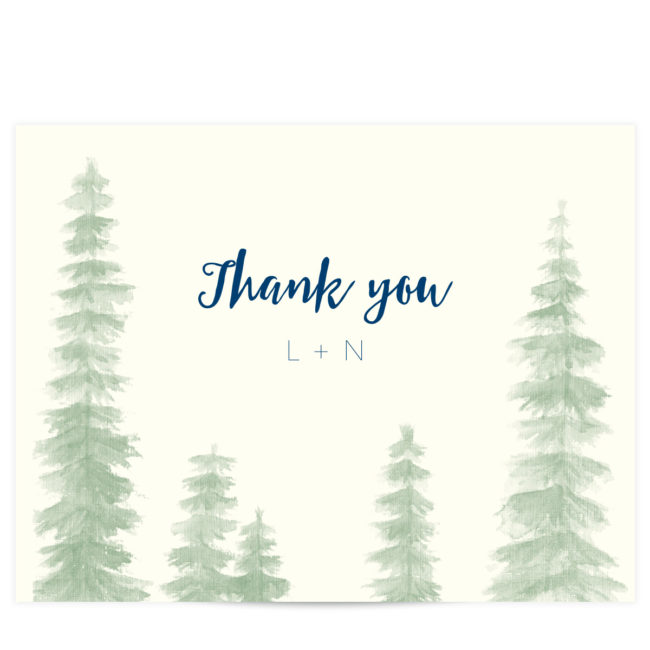 trees thank you cards