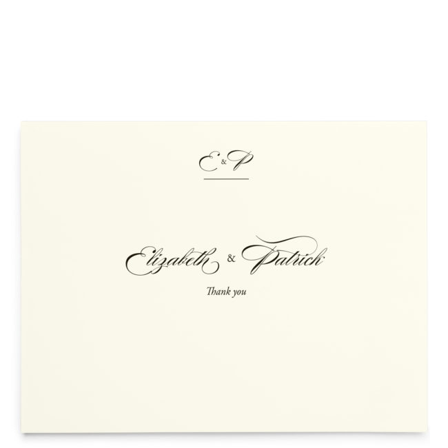 Elegant Nuptials Wedding Thank You Cards