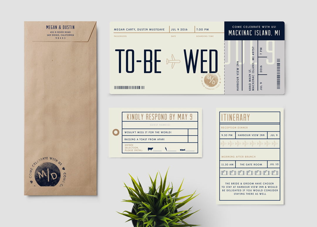 Boarding Pass to Wed Boarding Pass Wedding Invitations Pixie