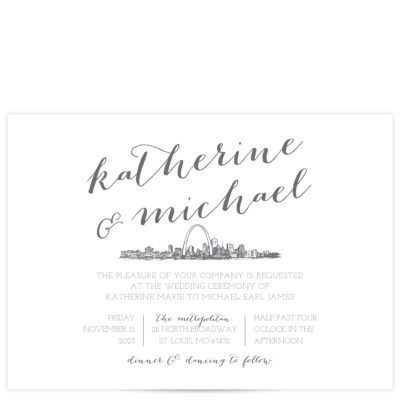 Gray and White Save the Date