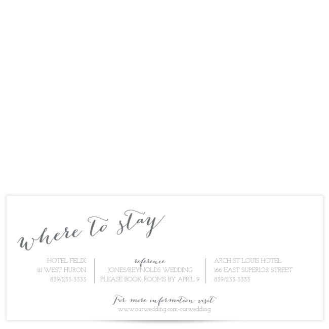 Gray and White Wedding Suite