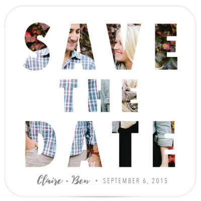 coaster save the date