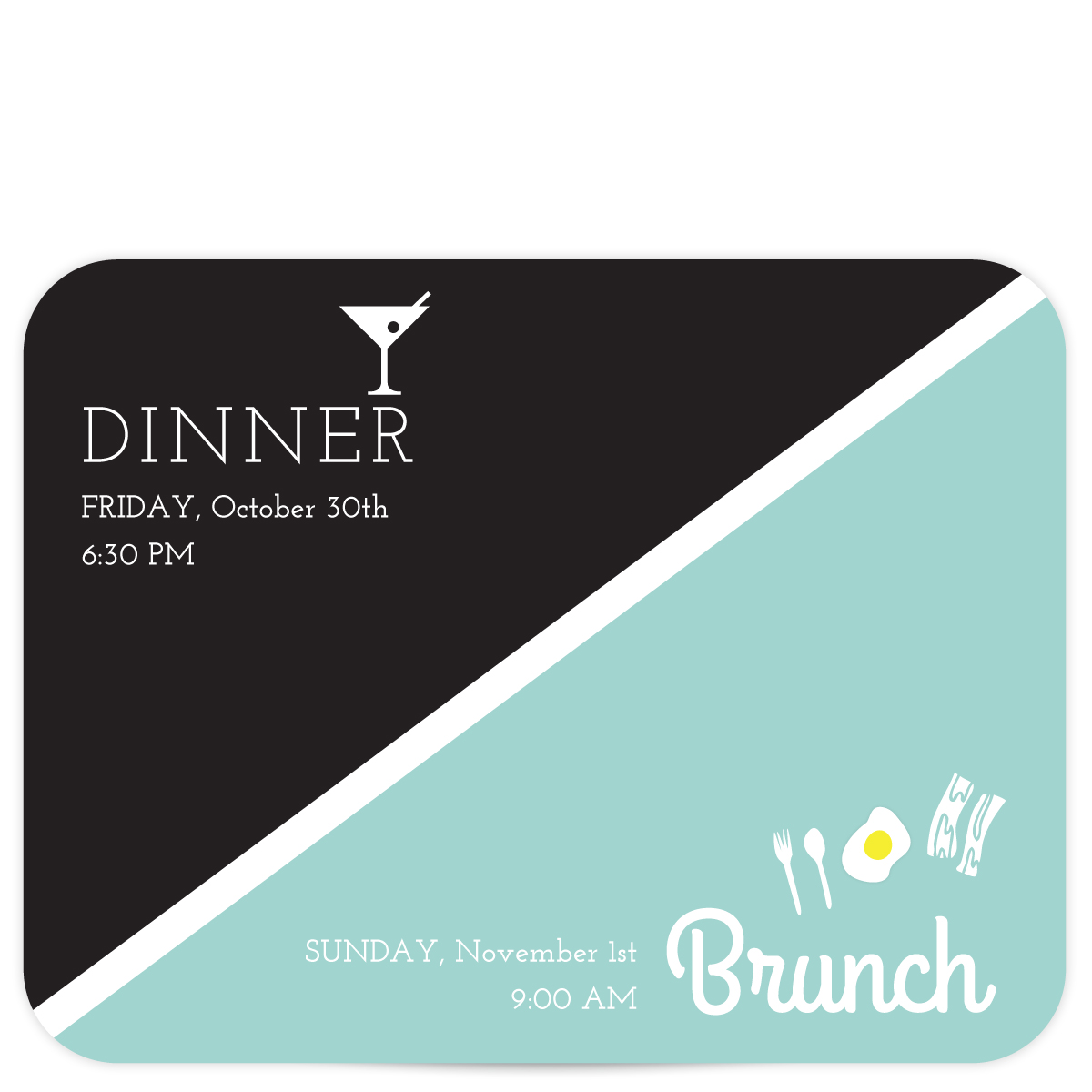 Rehearsal and Brunch Invitation