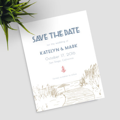Nautical Boardwalk Save the Date