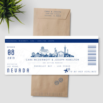 Las Vegas Boarding Pass Invitation