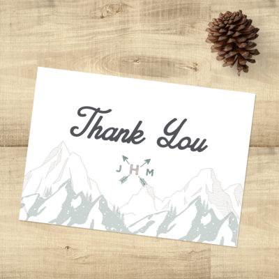 Forest Rustic Thank You Cards