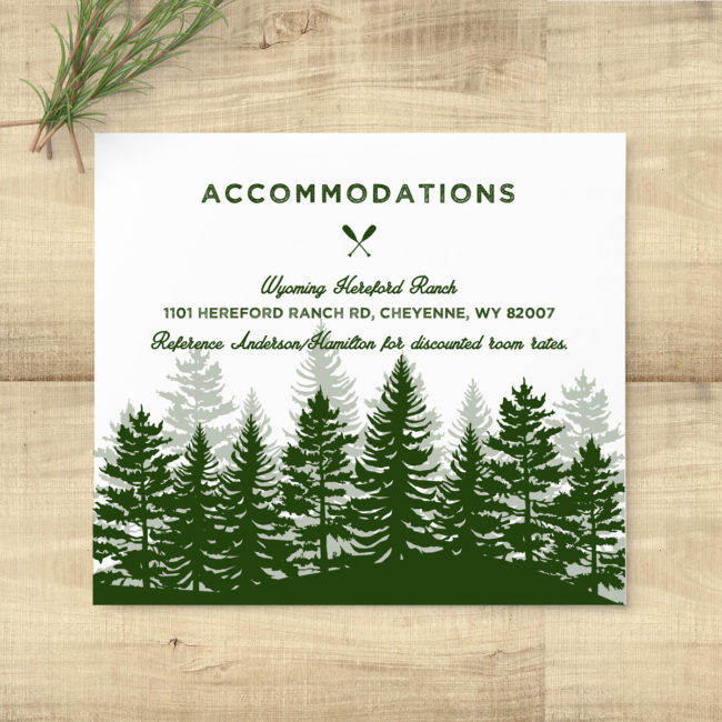 Forest Rustic Woodland Invitation Suite