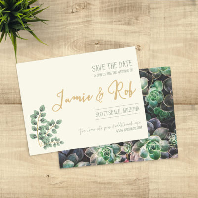Sage and Lavender Save the Date