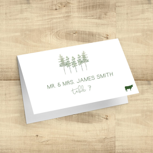 Aspen Trees Place Cards