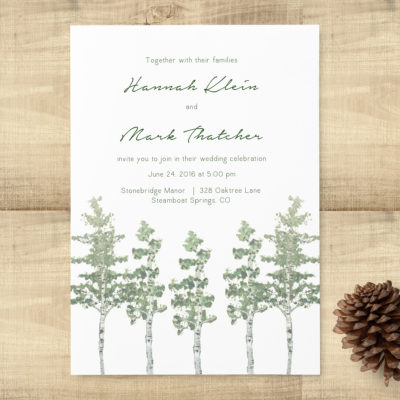 Aspen Trees Wedding Invitation Suite