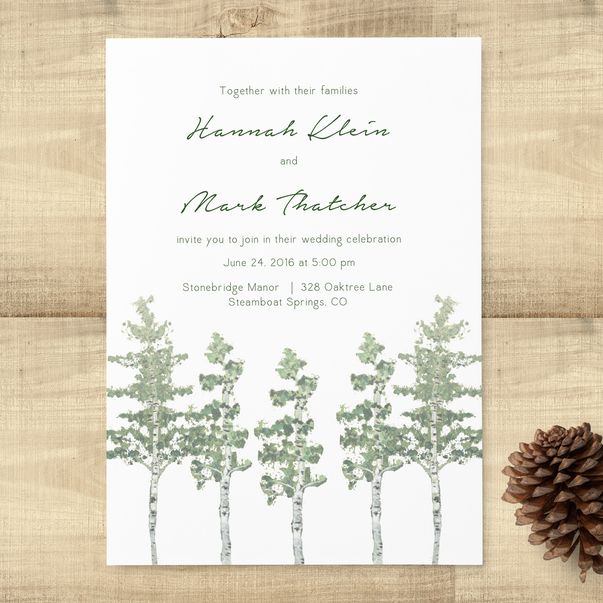Aspen Trees Wedding Invitation Suite - Pixie