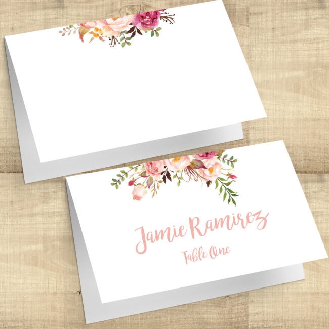 Floral Posies Escort Cards