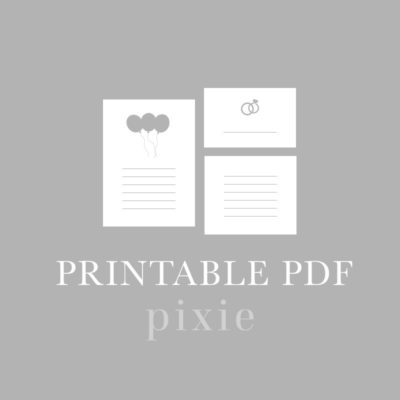 Digital Files and Printable PDFs