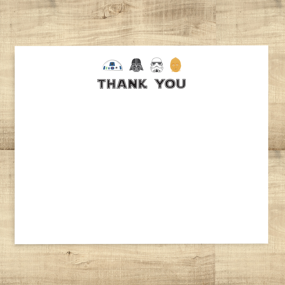 Star Wars Thank You Card   Pixie