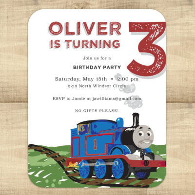 Thomas & Friends Birthday Invitations
