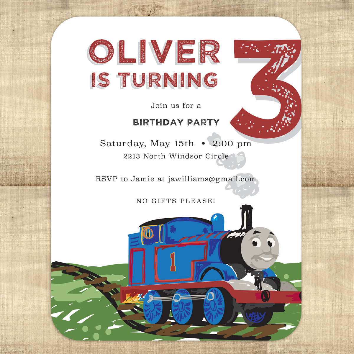 Thomas Friends Birthday Invitations