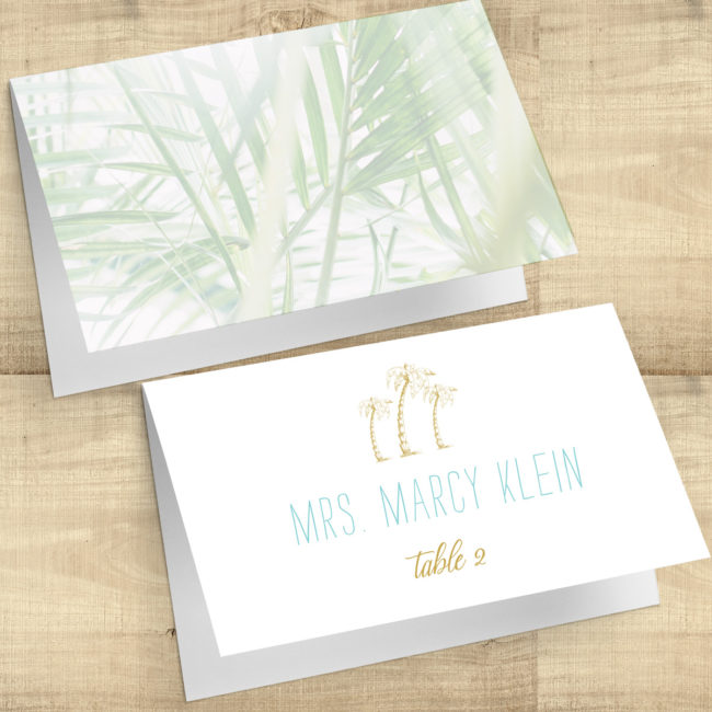 Tropical Palms Escort Cards